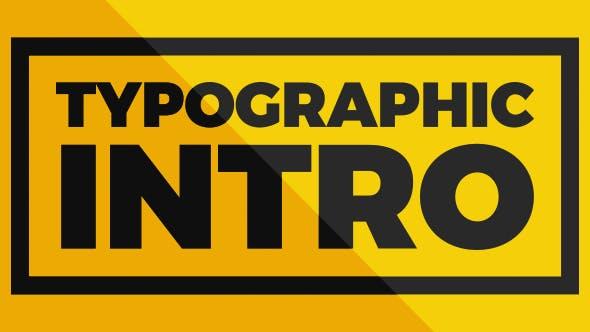 Thumbnail for Typographic Intro