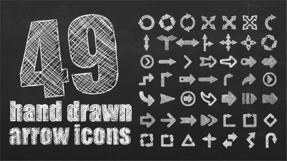 49 Hand Drawn Arrows – Motion Elements