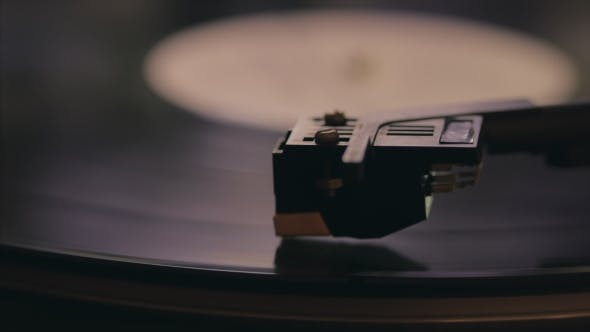 Thumbnail for A Retro-styled Spinning Record Vinyl Player. . .