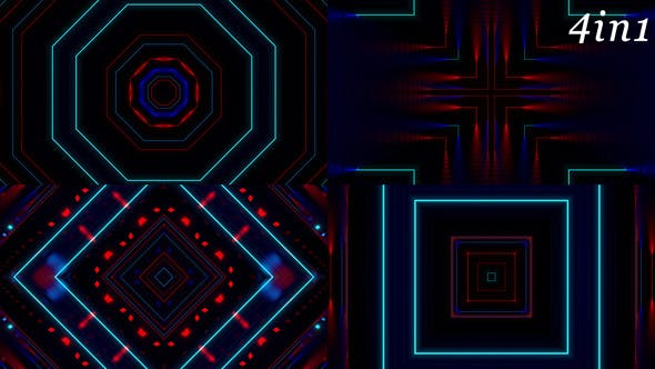 Cover Image for Neo Neon - VJ Loop Pack (4in1)