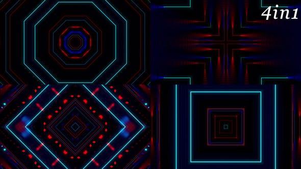 Thumbnail for Neo Neon - VJ Loop Pack (4in1)