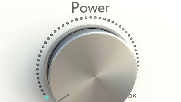Thumbnail for Rotating Knob with Power Inscription