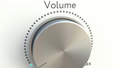Drehknopf mit Lautstärkebeschriftung