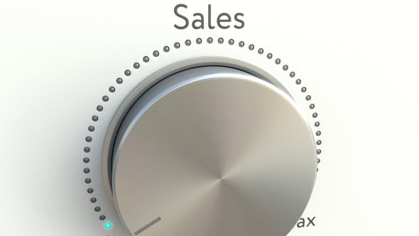 Thumbnail for Rotating Knob with Sales Inscription
