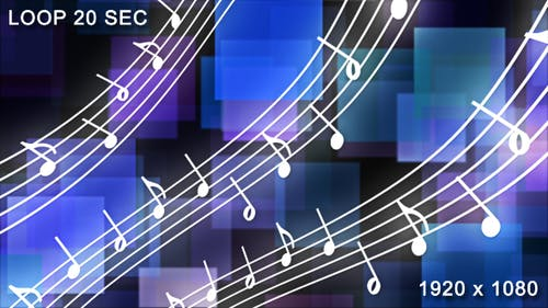 Motion Musical Notes