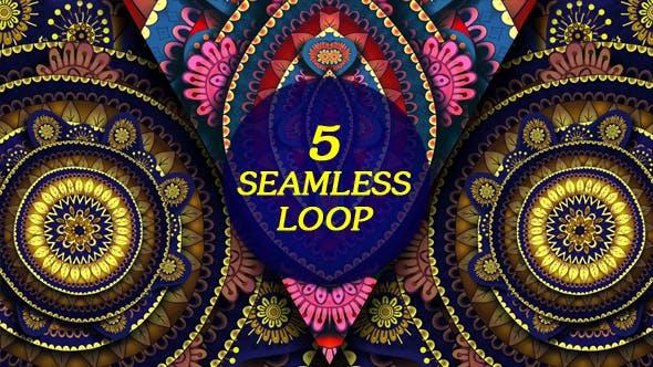 Owl Kaleido VJ Loop