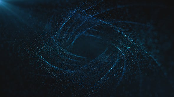 Thumbnail for Diamond Blue Particles Background