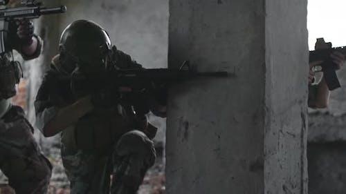 Scharfschützen auf Militäroperation