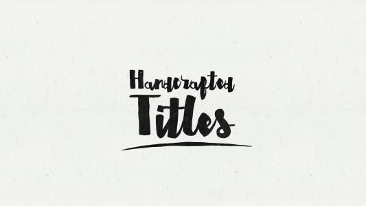 Thumbnail for Hand Crafted - Animated Typeface