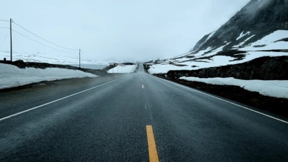 Thumbnail for Fog on the Road, Norway.