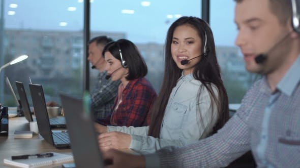 Thumbnail for Young Asian Woman in Call Center