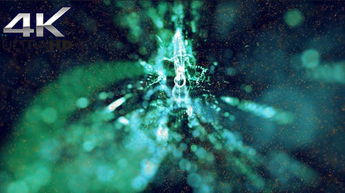Green Particles Background