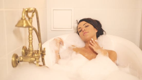Thumbnail for Woman Taking Rest in Bath