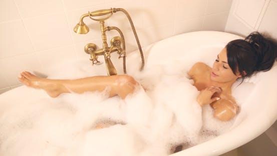 Thumbnail for Beautiful Woman Washing in Bath