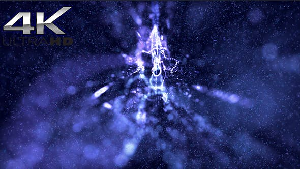 Thumbnail for Magic Blue Particles Background