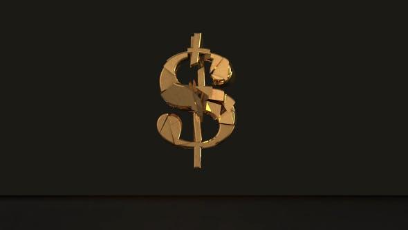 Thumbnail for Golden Dollar Sign Breaking