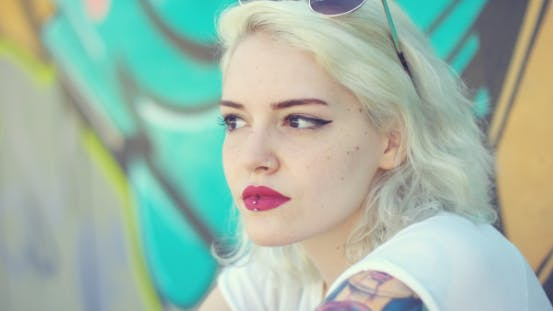 Thumbnail for Thoughtful Sexy Young Blond Woman