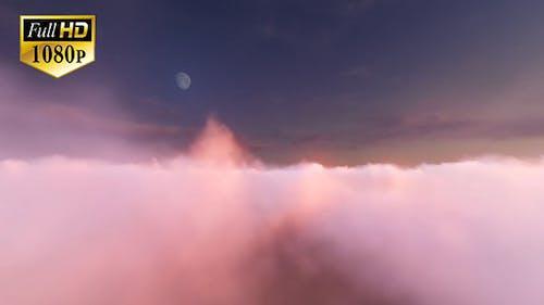 Fly Through Evening Sky