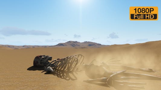 Human skeleton in collapse