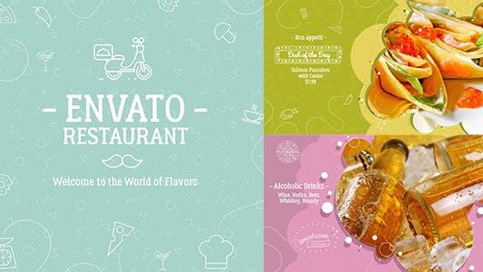 Thumbnail for A1/ Envato Restaurant/ New Cafe/ Chef's Burger/ Vegetarian Menu/ Fast Food/ Street Food Market/ TV
