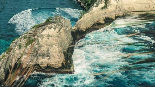 Thumbnail for Beautiful Huge Wave Hitting Rock on Atuh Beach, Nusa Penida, Bali, Indonesia