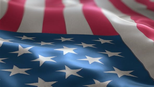 Thumbnail for Flag of the USA Slowly Waving in the Wind