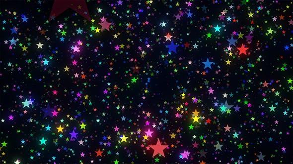 Glittering Colorful Stars