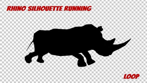 Thumbnail for Rhino Silhouette Run Animation