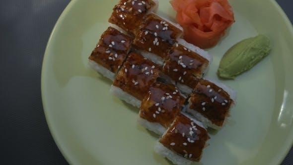 "Thumbnail for Appetizing Amazing ""Dragon"" Square Sushi Rolls"