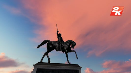Thumbnail for Man on horse Statue