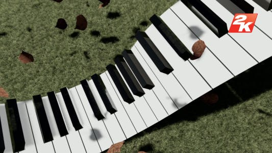 Piano and Spilled leaves