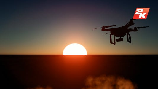 Thumbnail for Sunset Drone Silhouette