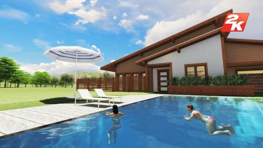 Thumbnail for Swimming Girl at Villa Garden Pool