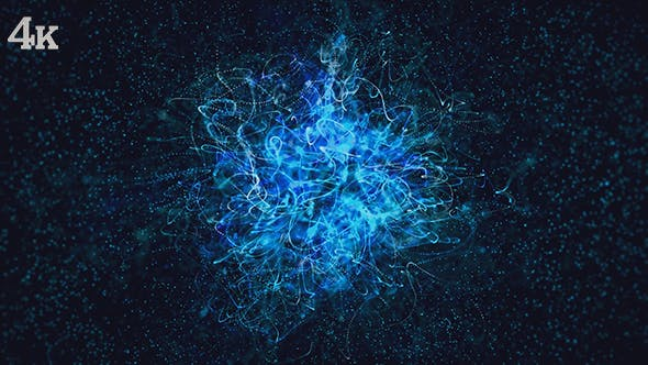 Thumbnail for Blue Universe Flower of Particles Background