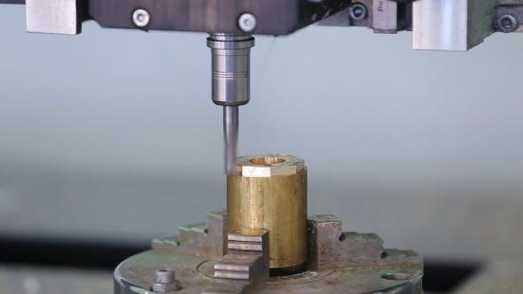 Five-axis Machine Sharpens a Part From Brass