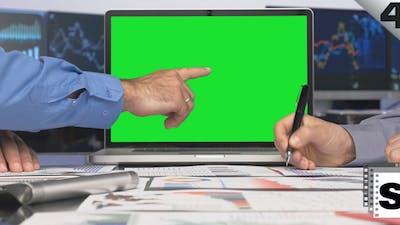 Green Screen Laptop