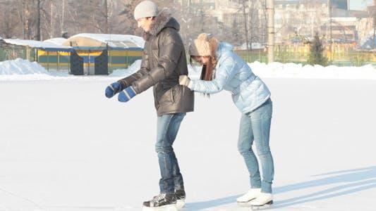 Thumbnail for Funny Skating Couple