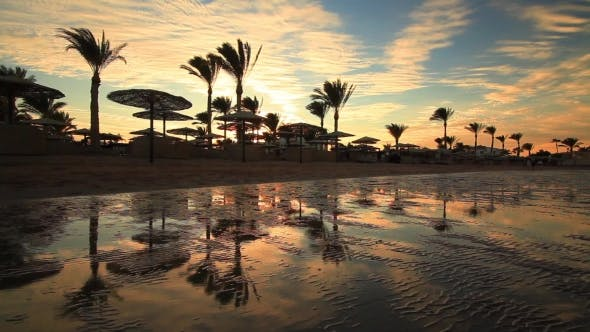 Thumbnail for Sunset on the Sandy Beach, Red Sea