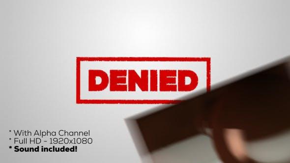 Thumbnail for Denied - Stamp
