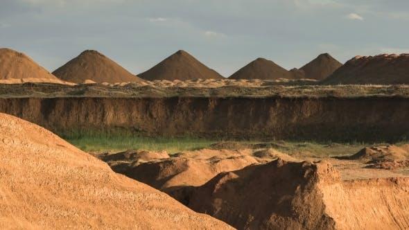Wide Shot of Sand Dunes