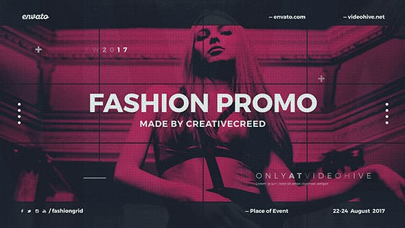 Thumbnail for Fashion Event Promo / Dynamic Opener / Clothes Collection / Grid Slideshow / Backstage
