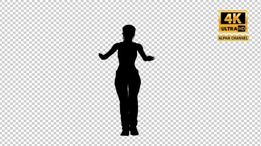 Thumbnail for Sexy Woman Dancing Silhouette with Transparency