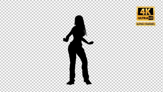 Thumbnail for Sexy Woman Dancing Silhouette with Transparency-3