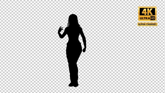 Thumbnail for Sexy Woman Dancing Silhouette with Transparency-4