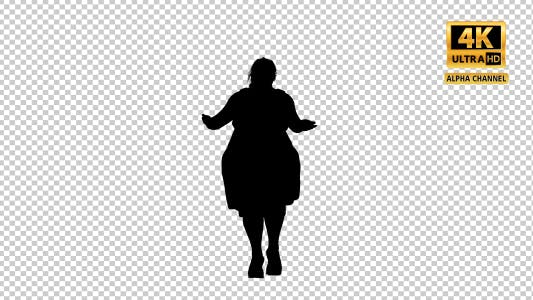 Thumbnail for Fat Woman Dancing Silhouette with Transparency