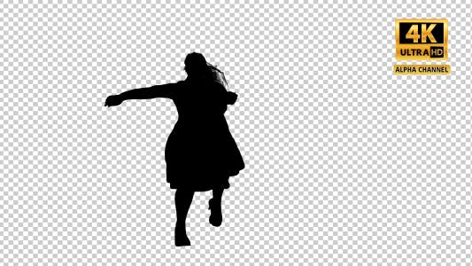 Thumbnail for Fat Woman Tanzen Silhouette mit Transparenz-5