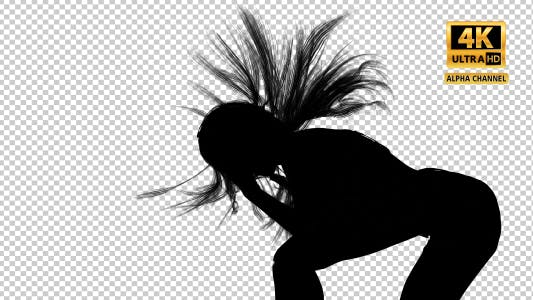 Thumbnail for Sexy Woman Silhouette Dancing with Close Up Transparency-5
