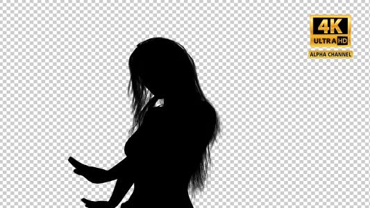 Thumbnail for Sexy Woman Silhouette Dancing with Close Up Transparency-7