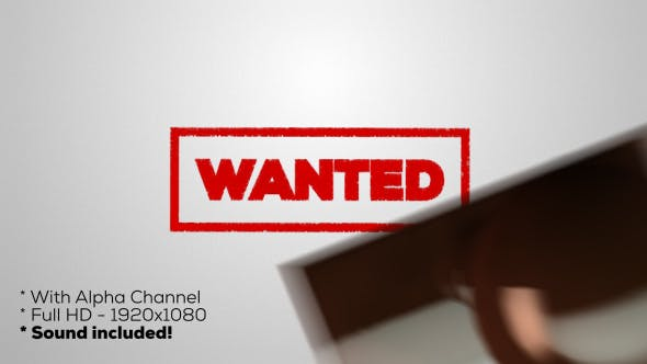 Thumbnail for Wanted - Stamp