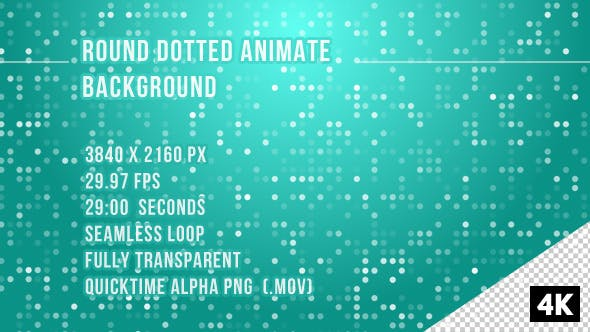 Thumbnail for Round Dotted Animate overlay Background